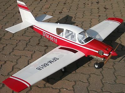 RC 1:6 BEAGLE B121 Flugmodell 1600 mm Tiefdecker Flugzeug ARF 6,50 bis 8,00 ccm