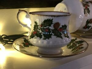 ENGLISH ROSINA QUEEN Christmas Bone China English set