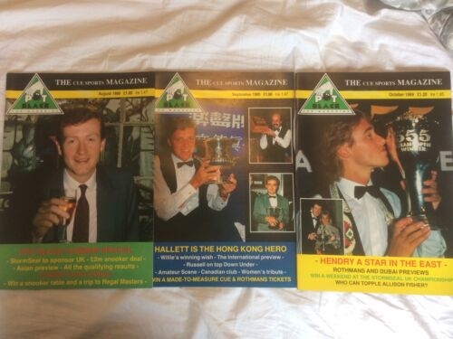 Pot Black Magazines Snooker August-October 1989