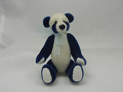 "World of Miniature Bears 4""  Plush Panda Bear Blue #872-BLU"