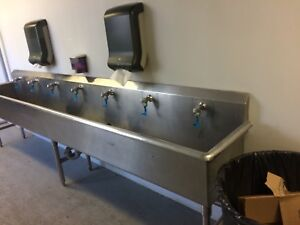 Commercial sink and taps restaurant