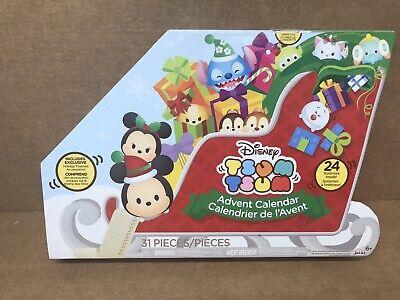 Disney Christmas Tsum Tsum Sled Advent Calendar New Open Box