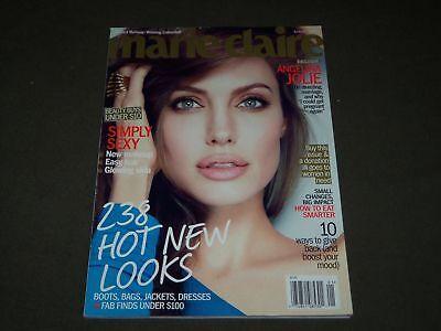 2012 JANUARY MARIE CLAIRE MAGAZINE - ANGELINA JOLIE COVER - FASHION - O 9378
