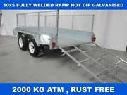 10x5 FULLY WELDED RAMP HOT DIP GALVANISED TRAILER 2000 KG GVM Dandenong South Greater Dandenong Preview