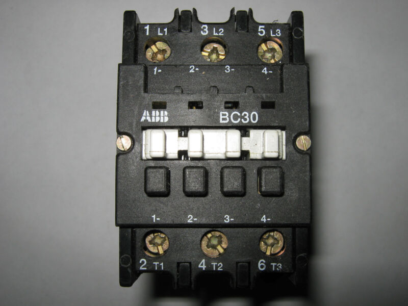 ABB Contactor, BC30C*EX, 24V DC Coil, Used