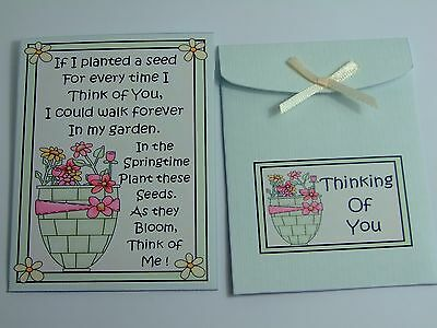 Five Flower (Five Flower Seed Packet Envelopes for Cards, Weddings, Favours, Fairs etc X5)