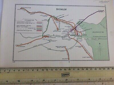 RAHENY DUBLIN CLONDALKIN BLANCHARDSTOWN MILLTOWN SYDNEY PARADE RAILWAY MAP 1928