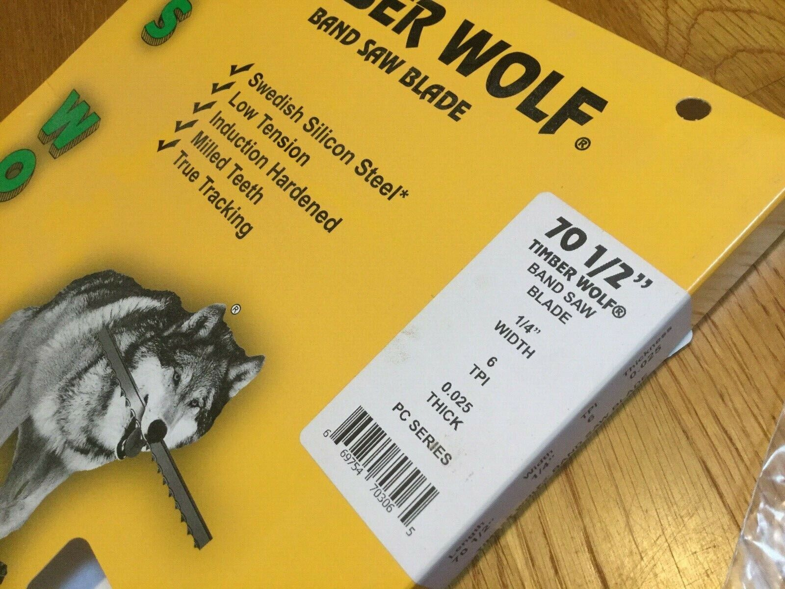 """Timber Wolf Bandsaw Blades for 10"""" Rikon  70-1/2"""" long"""