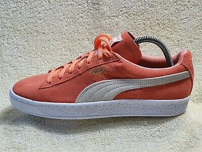 Puma Suede Ladies Comfort Street trainers NEW Leather Orange/White UK 6 EUR 39