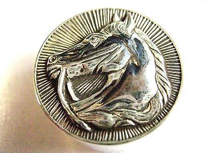 925 solid Silver Stallion Horse Snuff trinket Pill box Racing equestrian Hunt
