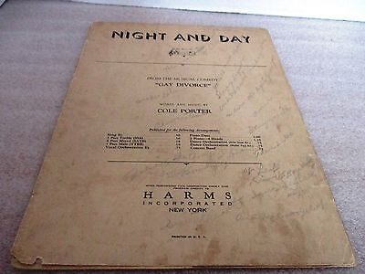 Vintage 1932~NIGHT AND DAY from Gay Divorce Sheet Music~Cole Porter