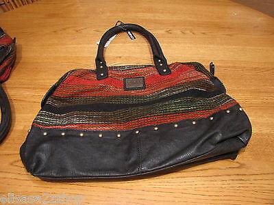 - O'Neill womens juniors purse handbag tote bag black red brown RARE new nwt oneal