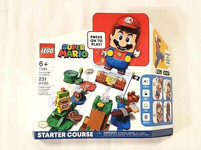 LEGO SUPER MARIO ADVENTURES WITH MARIO STARTER COURSE 71360 IN HAND/FREE SHIP