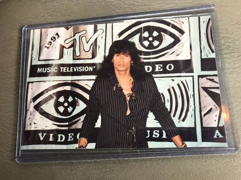 Steven Tyler Of Aerosmith UNPUBLISHED/AMATEUR Photograph 1991 MTV VMAs Snapshot