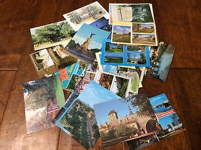 Lot of 32 Vintage Postcards Post cards Mostly Europe Cornwall Castles Yorkshire