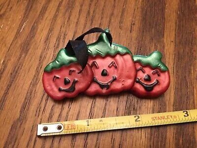 Vintage Estate Pumpkin Halloween Brooch