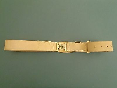 1871 Pattern Natural Tan Buff Leather Waist Belt 24th of foot.