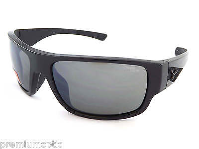 CEBE mens WHISPER wrap sunglasses SHINY BLACK/ 1500 Grey AR Lens CAT.3 CBWHISP1