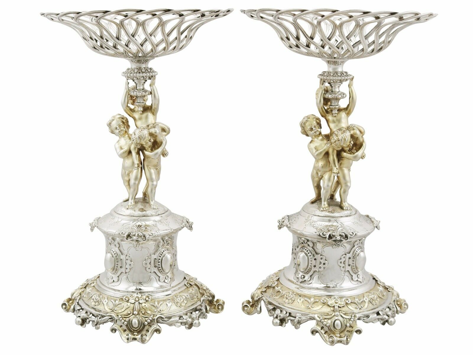 Victorian Sterling Silver Centerpieces