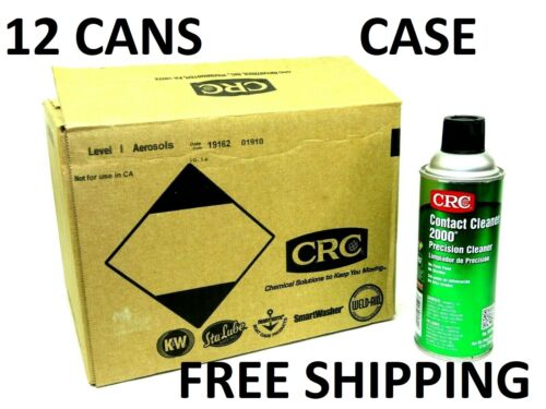 **CASE** (12) CANS CRC 03150 Contact Cleaner 2000 PRECISION 13 oz. Aerosol can