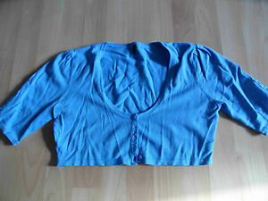 Details about BENETTON very short Bolero Cardigan turquoise Size. S