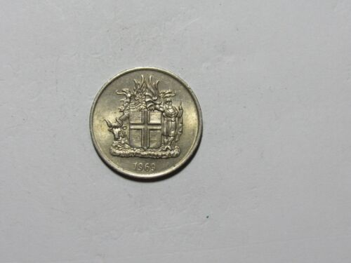 Old Iceland Coin - 1969 5 Kronur - Circulated