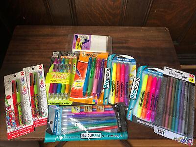 School Supply Lot Bic Ballpoint Pens Felt Tips Metallic Markers Highlighters