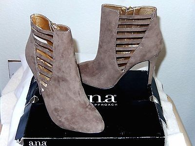 """a.n.a Fashion Ankle Boots """"Olive""""--size 9M, taupe--Beautiful styling!  NWT $70"""