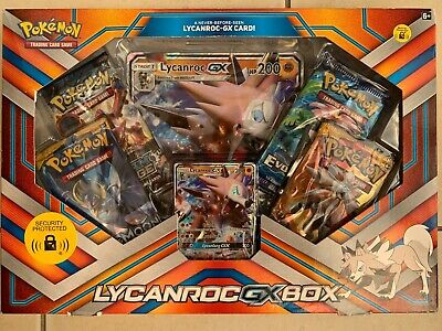 Pokemon TCG: Lycanroc Gx Box with 1 Foil Lycanroc Gx Card