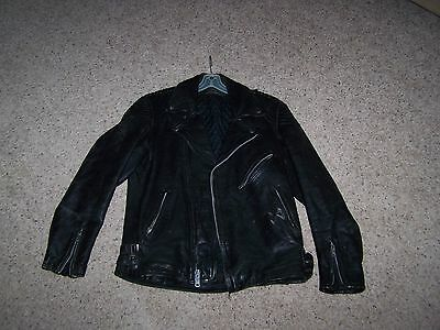 Vintage Harley Davidson Leather Motorcycle Jacket By Hein Gericke Size 42 Men