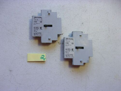 LOT OF 2 FRESH TAKEOUT ALLEN BRADLEY AUXILIARY CONTACT 100-MC SERIES A (154-2)