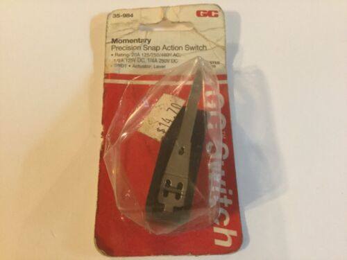 GC ELECTRONICS #35-984 Switch, Snap-Action; 20A; Lever Actuator