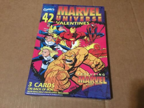 Marvel Universe 42 Valentines Day cards NEW