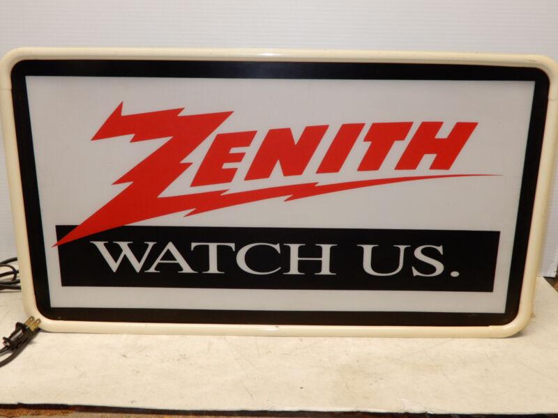 LARGE VINTAGE ZENITH TELEVISION RADIO ADVERTISING STORE DISPLAY SIGN