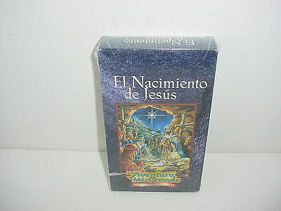 El Nacimiento de Jesus La Aventura Mas Grande VHS Video Tape Movie New
