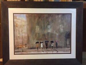 "Max Moran's ""Waiting for a Cab, Park Avenue "" (46.5"" x 36.5"")"