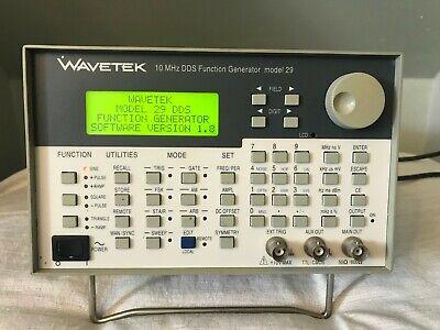 Wavetek Digital 10 Mhz Dds Function Generator Model 29 - Working