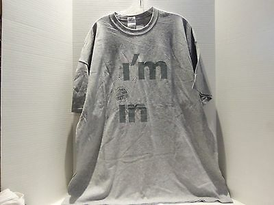 N Y  Lottery I M In Promo Logo T Shirt  2Xl  Gray   Very Rare