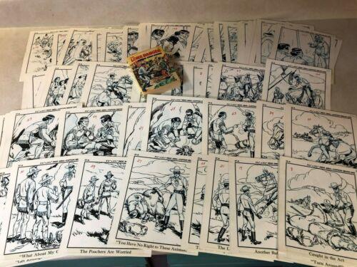 Lone Ranger ORIGINAL ART 121 PAGES Crazy Cougar BLB 5774 AMAZING COMPLETE LOT