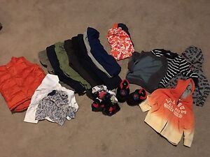 Lot of 12-18 month boys clothes - 17 pcs with slipper n socks