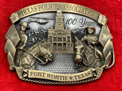 Texas Police Association 100 Years Fort Worth, Texas 1895-1995 Belt Buckle
