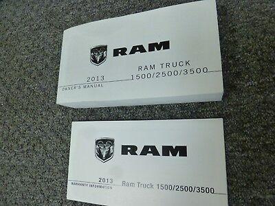 2013 Dodge Ram 3500 Truck Owner Manual Set Trademan ST SLT Laramie Longhorn