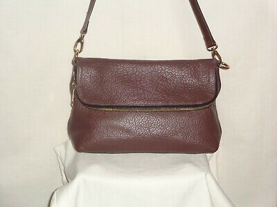 A BELLUCCI Women HANDBAG PURSE LEATHER SUEDE REMOVABLE STRAP MADE IN ITALY