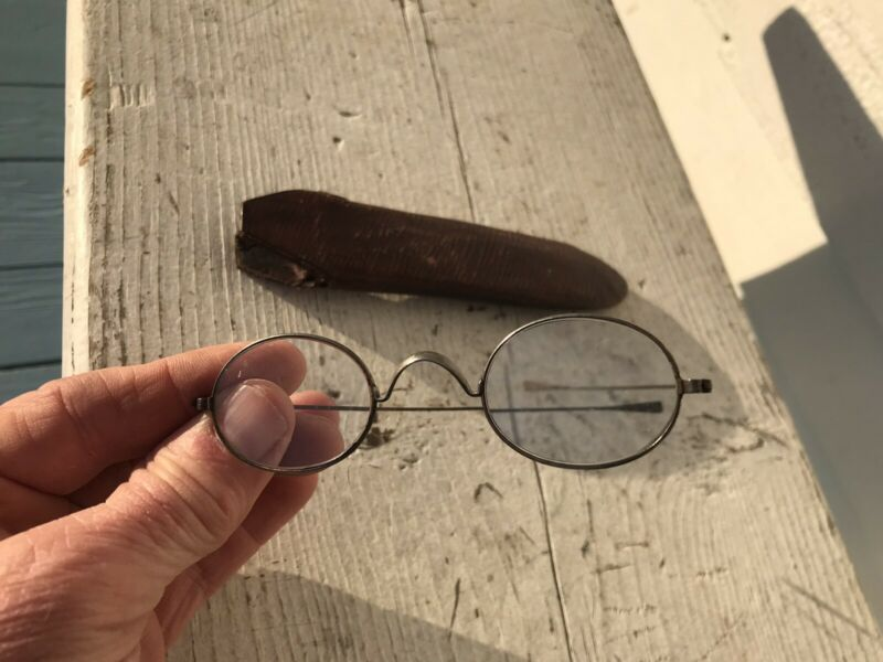 Early Civil War Era Eyeglasses Spectacles W Case Delicate NICE