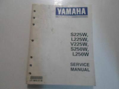 1998 Yamaha Outboards S225W L225W V225W S250W L250W Service Shop Manual NEW