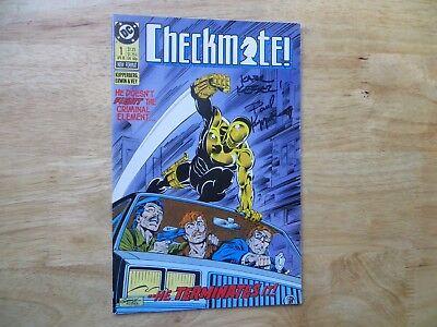 1988  VINTAGE DC CHECKMATE #1 SIGNED 2X PAUL KUPPERBERG, & KARL KESEL, WITH POA