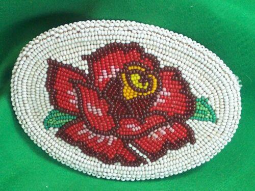 Sioux Beadwork Belt Buckle - Gorgeous!