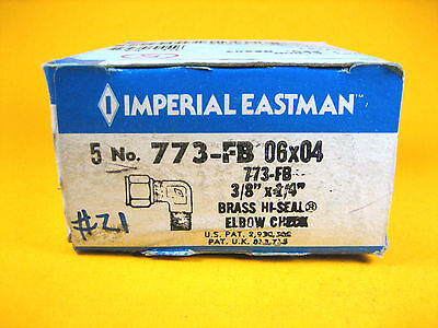 Imperial Eastman - 773-fb 06x04 - Brass Hi-seal Elbow Check 38x14 Box Of 5