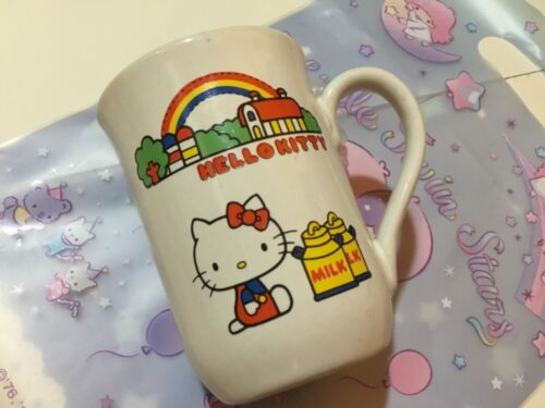 Vintage Sanrio 1976 Hello Kitty ceramic cup mug