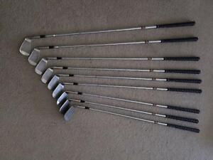 Golf clubs.Irons.Blades